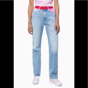 NWT Calvin Klein Jeans Size 29x30 High Rise Jeans